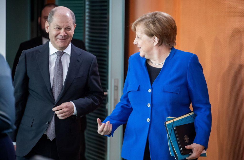 Bundesfinanzminister Olaf Scholz (SPD) gilt als möglicher Nachfolger von Bundeskanzlerin Angela Merkel. Foto: dpa