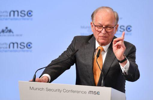 Ischinger: Die Nachkriegsordnung ist bedroht