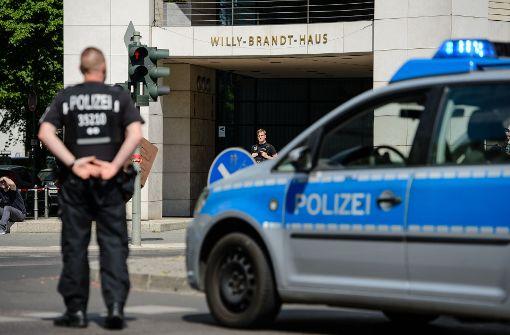 Entwarnung: Kein Sprengstoff in SPD-Parteizentrale