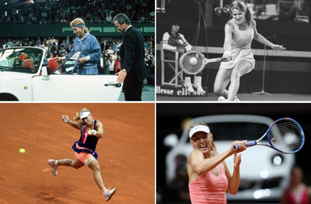 2015 konnte sich Angelique Kerber in die Reihe der Siegerinnen beim WTA in Stuttgart einreihen. Foto: Collage / Baumann
