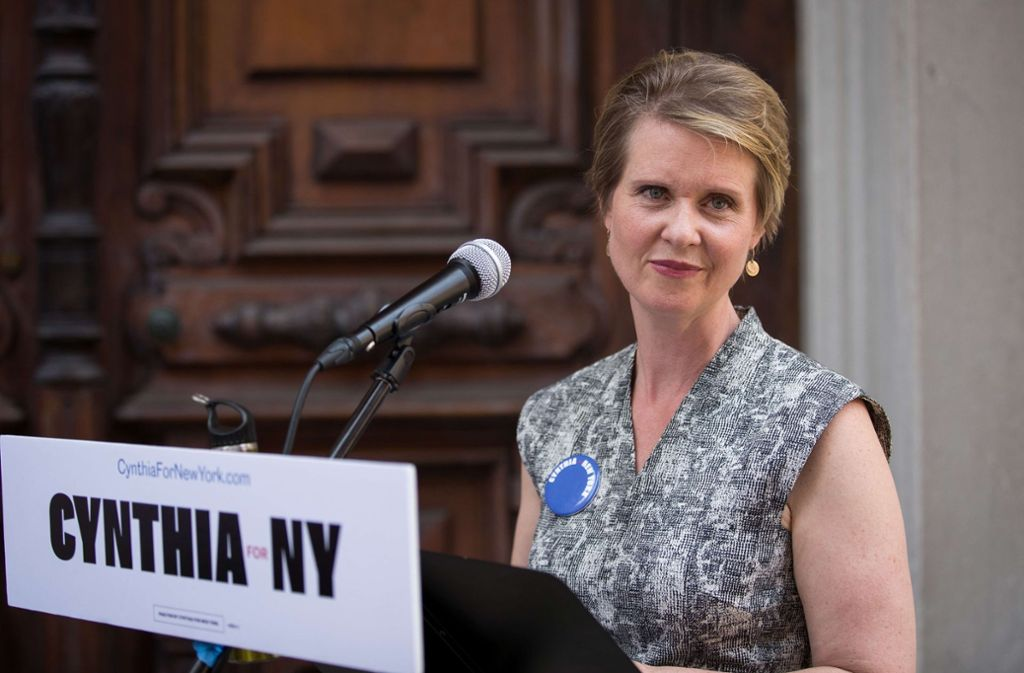 Cynthia Nixon ist   bodenständig, sie kennt  die Nöte der einfachen Leute Foto: AFP