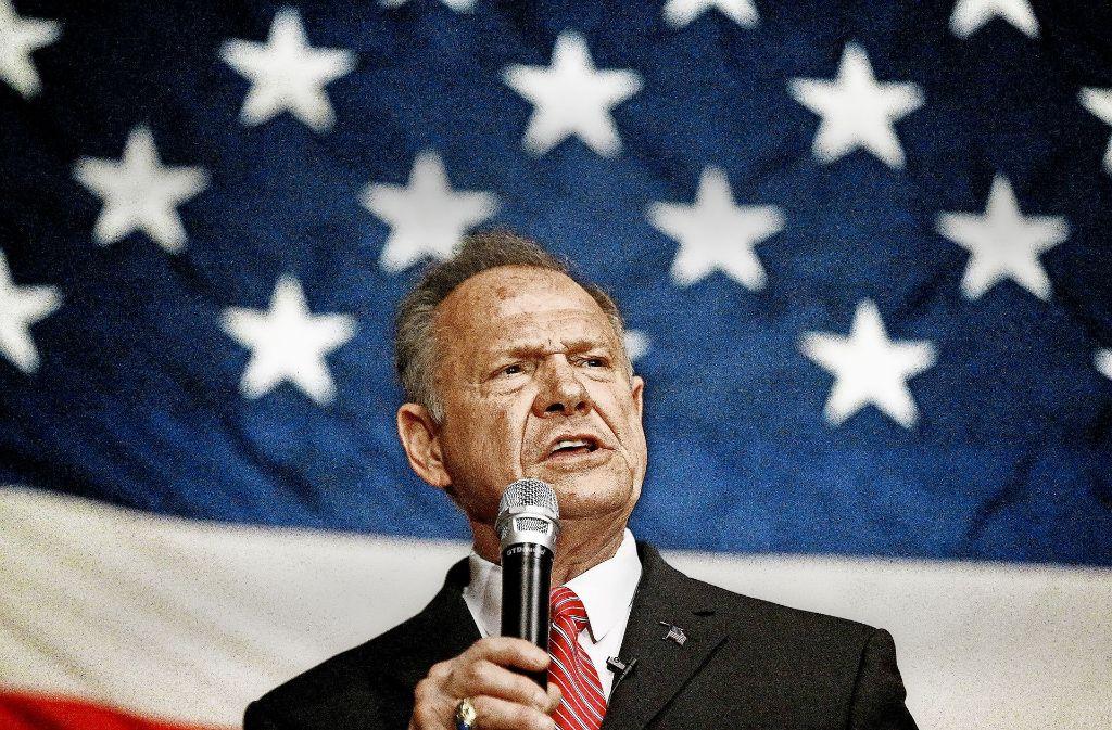 Kreuzritter im Anzug: Roy Moore sieht sich als echter Vorkämpfer  für die Werte Amerikas. Foto: AFP