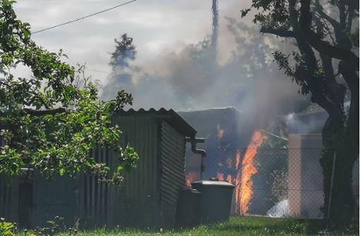 Feueralarme im Idyll der Schrebergärten