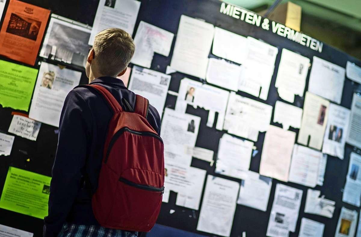 In normalen Zeiten sind Studentenbuden Mangelware. Wie wird dies in Corona-Zeiten? Foto: dpa/Matthias Balk