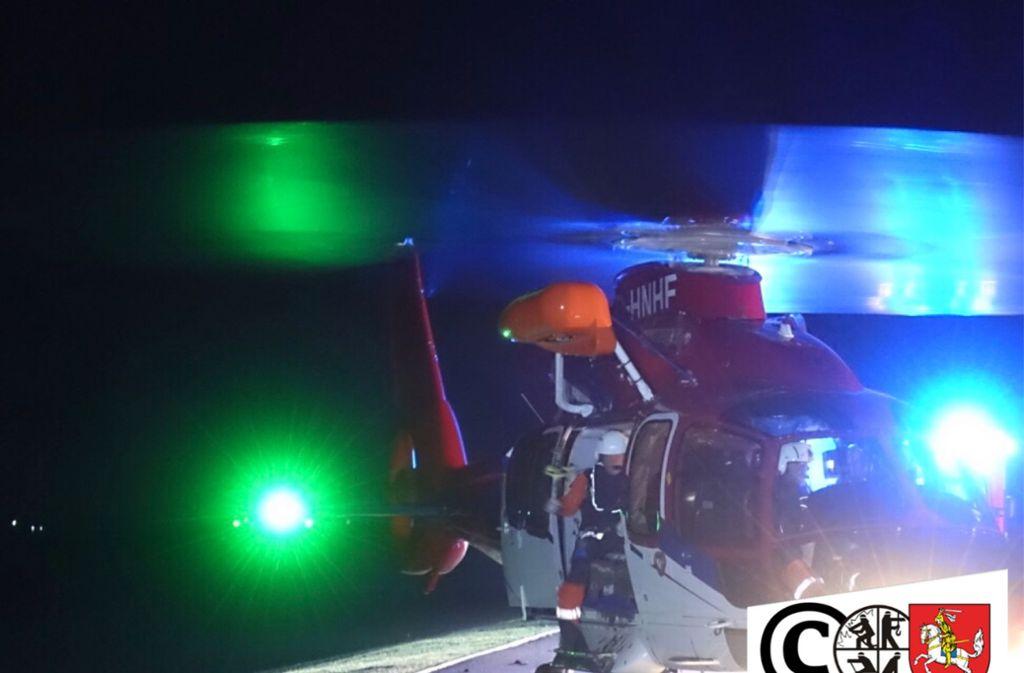 Drei Männer mussten aus dem Watt mit einem Hubschrauber gerettet werden. Foto:Kreisfeuerwehrverband Dithmarschen