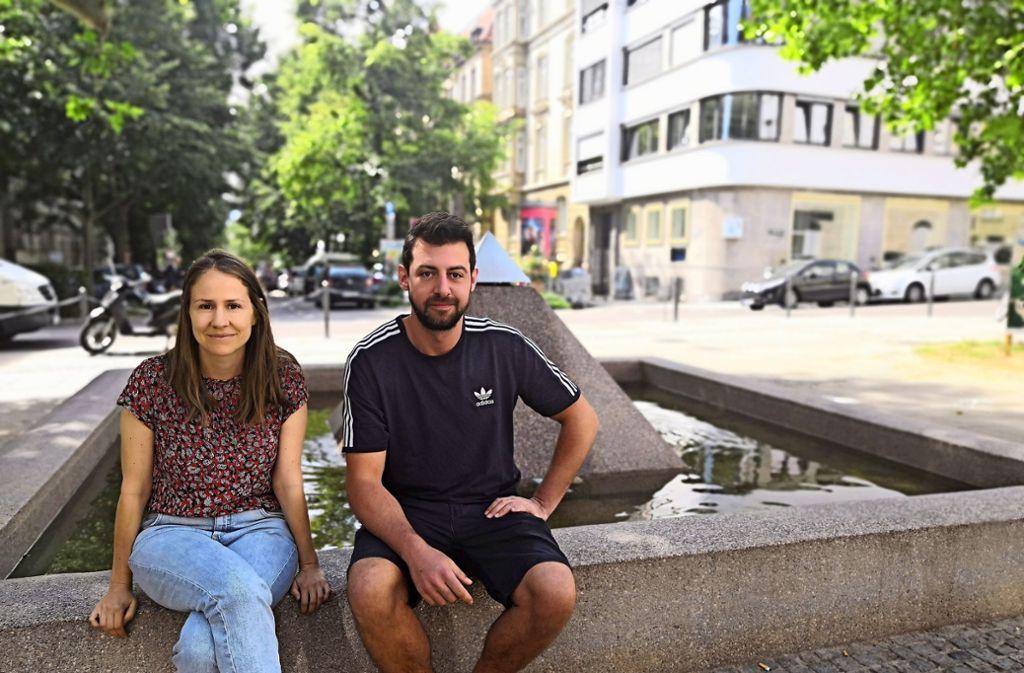 Melanie Moser und Felix Klenk organisieren die Westallee. Foto: Björn Springorum