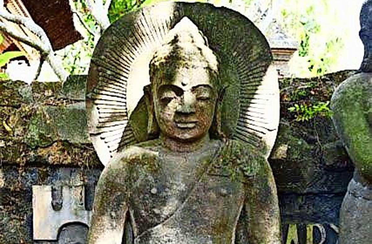 Dieser Buddha soll das buddhistische Gräberfeld im Dornhaldenfriedhof zieren. Foto: privat