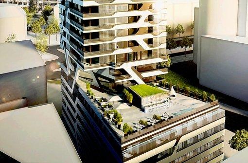So könnte das neue Hotel aussehen. Foto: Staud Studios