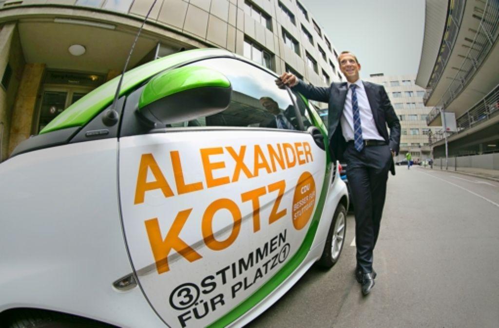 Alexander Kotz will in Stuttgart gute Luft – trotz Autoverkehrs. Foto: Horst Rudel