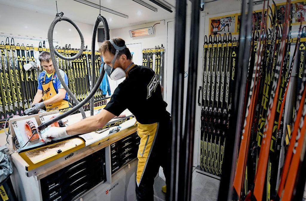 Gut gewachst: die richtig Präperation der Ski ist der Grundstein für den Erfolg der deutschen Athleten. Foto: dpa