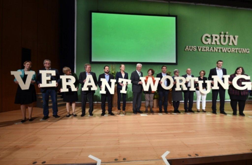 Ministerpräsident wurde mit fast 97 Prozent der Stimmen zum Spitzenkandidaten der Grünen gekürt. Foto: dpa
