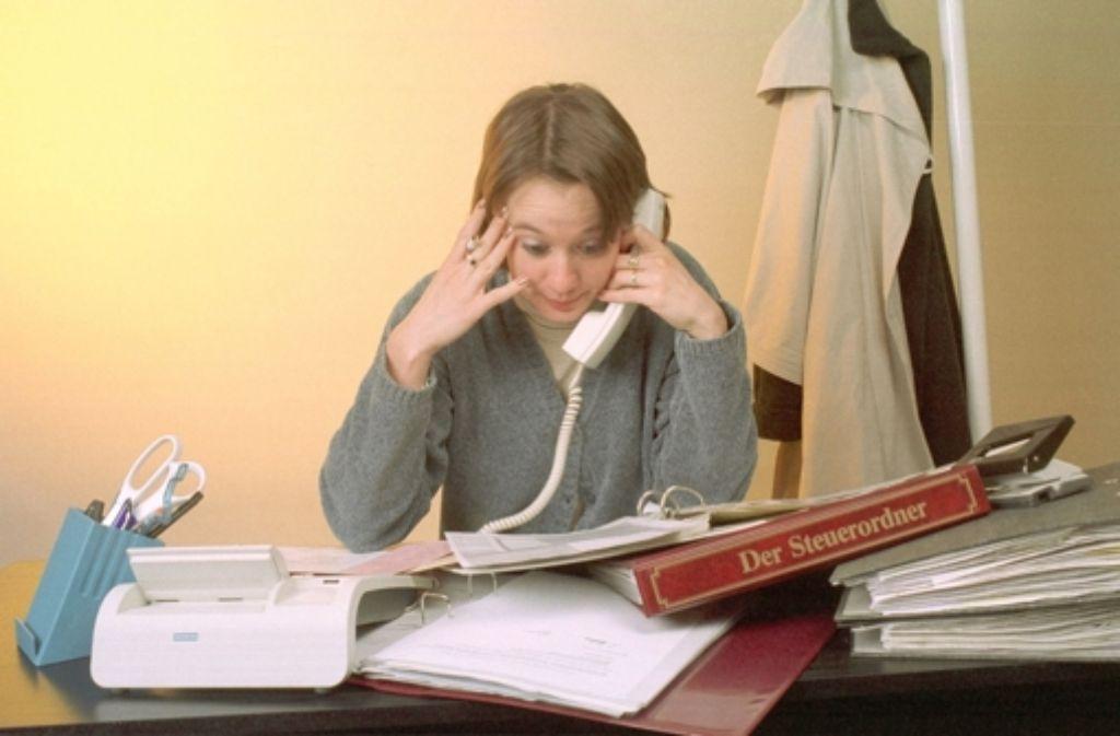 Überforderung im Job kann Stress auslösen. Foto: dapd