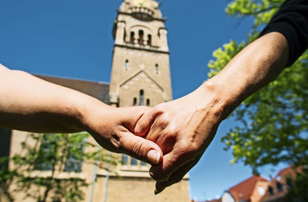 Die Segnung homosexueller Paare wird von vielen Stuttgarter Gemeinden gewollt, doch das Kirchenparlament hat sich dagegen ausgesprochen. Foto: Lichtgut/Verena Ecker