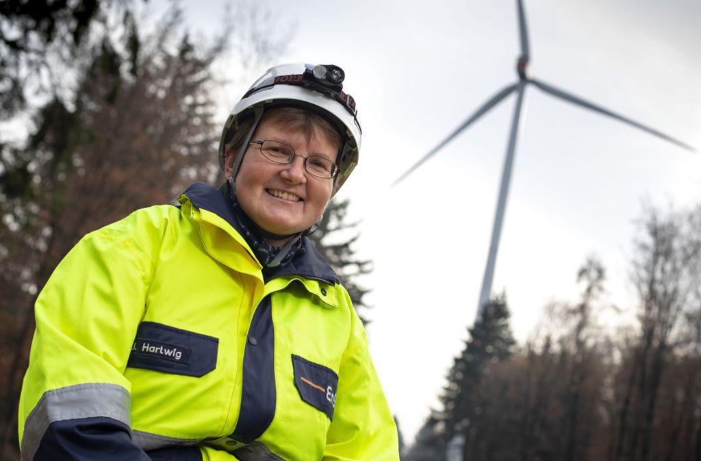 Die Waiblingerin Jana Hartwig hat insgesamt 25 Windanlagen unter ihren Fittichen. Foto: Frank Eppler