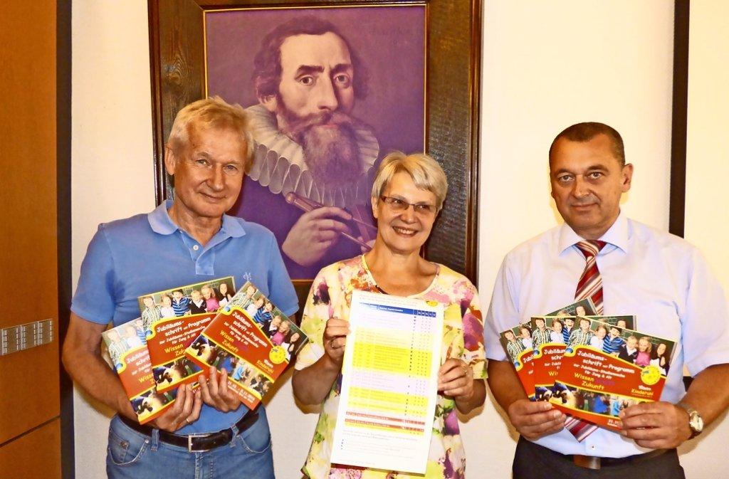 Hermann Faber, Dorothee Lebhardt  und Bürgermeister Thilo Schreiber. Foto: privat