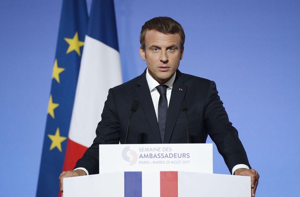 Präsident Macron will den Arbeitsmarkt reformieren – doch die Franzosen seien reformunfähig, sagt er. Foto: AFP