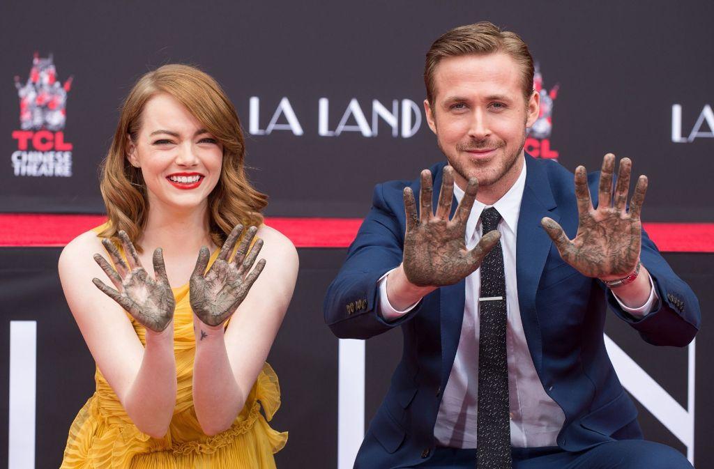 Emma Stone und Ryan Gosling haben sich in Hollywood verewigt. Foto: GETTY IMAGES NORTH AMERICA