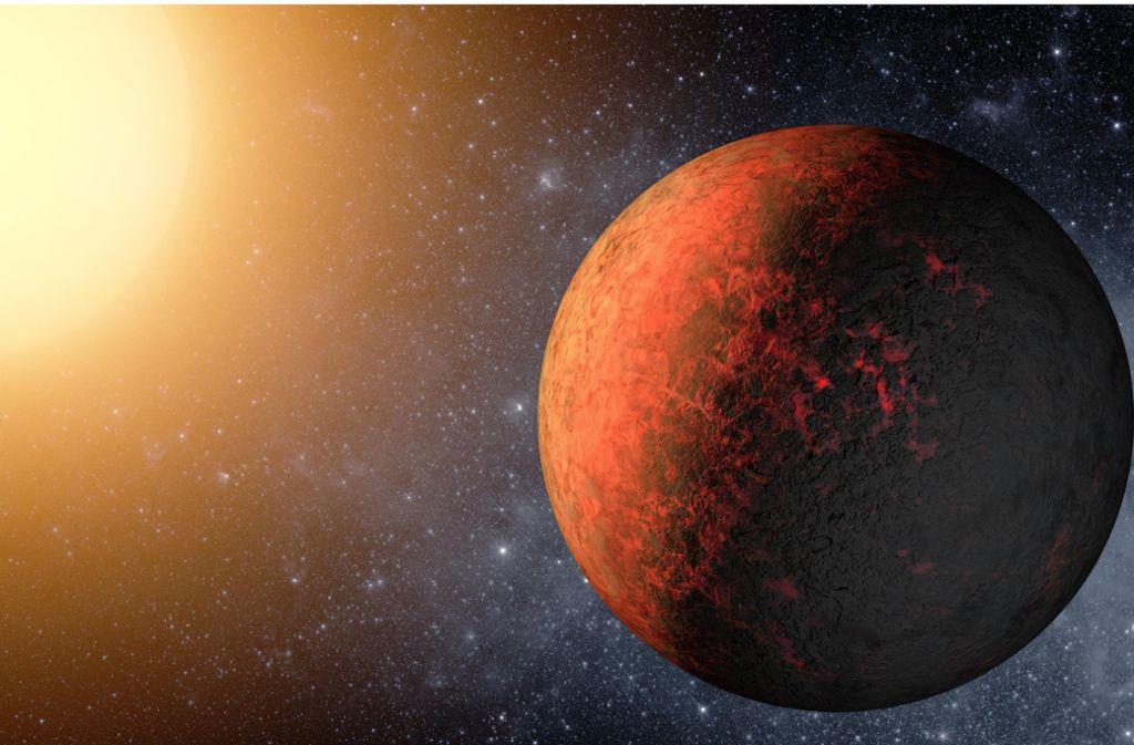 Die Illustration der US-Raumfahrtbehörde Nasa zeigt einen erdähnlichen Planeten außerhalb unseres Sonnensystems.. Foto: Nasa/M. Kornmesser