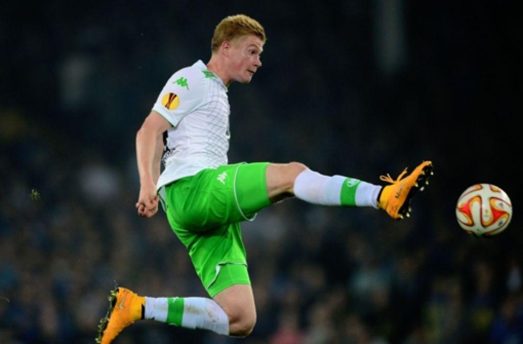 Kevin De Bruyne wechselt für die Rekordsumme von mindestens 75 Millionen Euro vom VfL Wolfsburg zu Manchester City. Foto: dpa