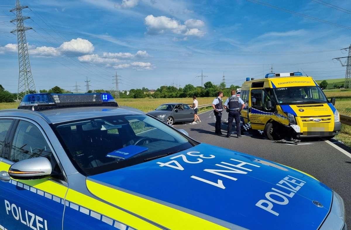 Der Unfall ereignete sich nahe Leingarten im Kreis Heilbronn. Foto: 7aktuell.de/ JB/7aktuell.de | JB