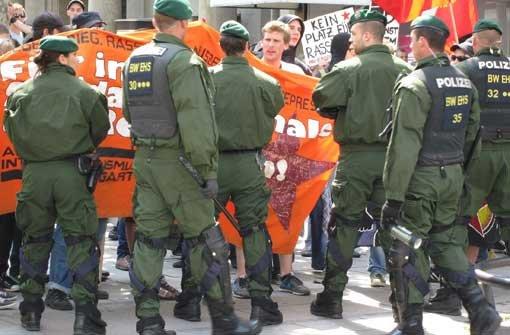 Kundgebung auf dem Schlossplatz eskaliert