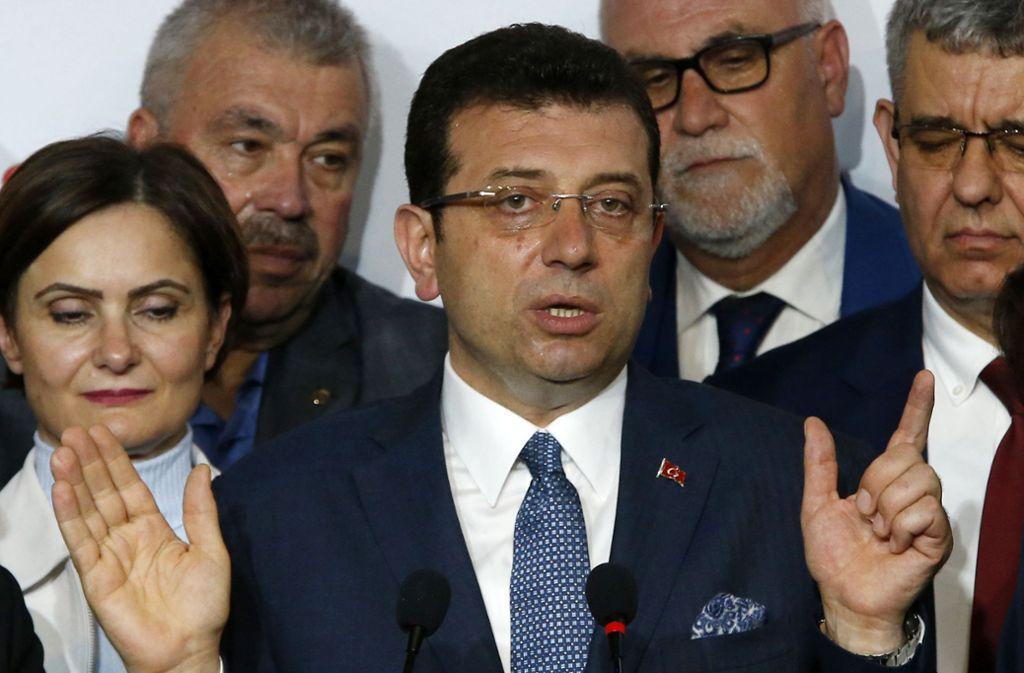 Ekrem Imamoglu ist jetzt zunächst einmal Bürgermeister von Istanbul. Foto: AP