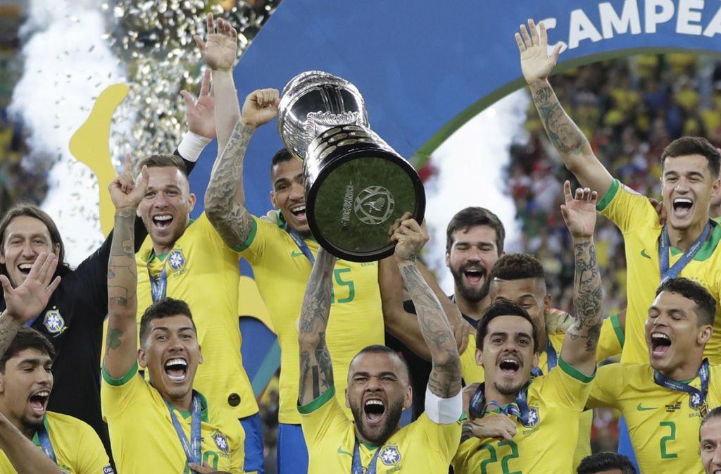 Bei der Copa America siegte Brasilien 3:1 gegen Peru. Foto: dpa