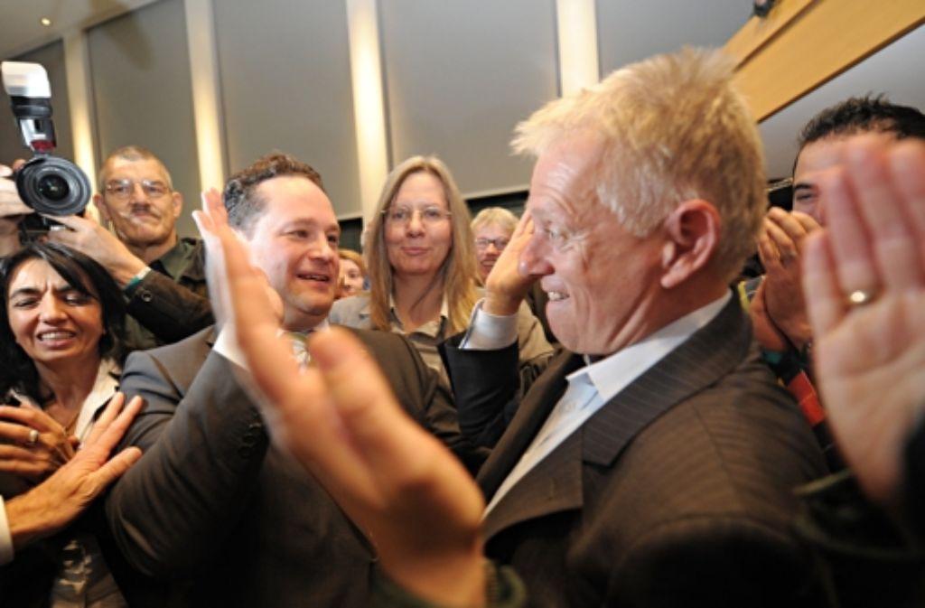 Fritz Kuhn beherrscht die Stimmen der Stuttgarter Innenstadt. Foto: dpa