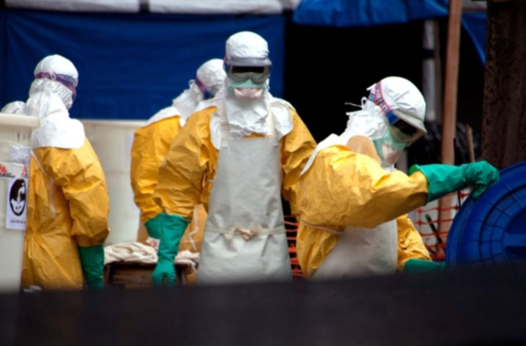 Eine Ebola-Übung in Genf Foto: dpa