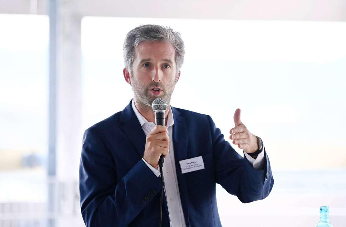 "Boris Palmer will in Tübingen ein ""Superradwegnetz"" an den Start bringen. Foto: imago images/ULMER Pressebildagentur"
