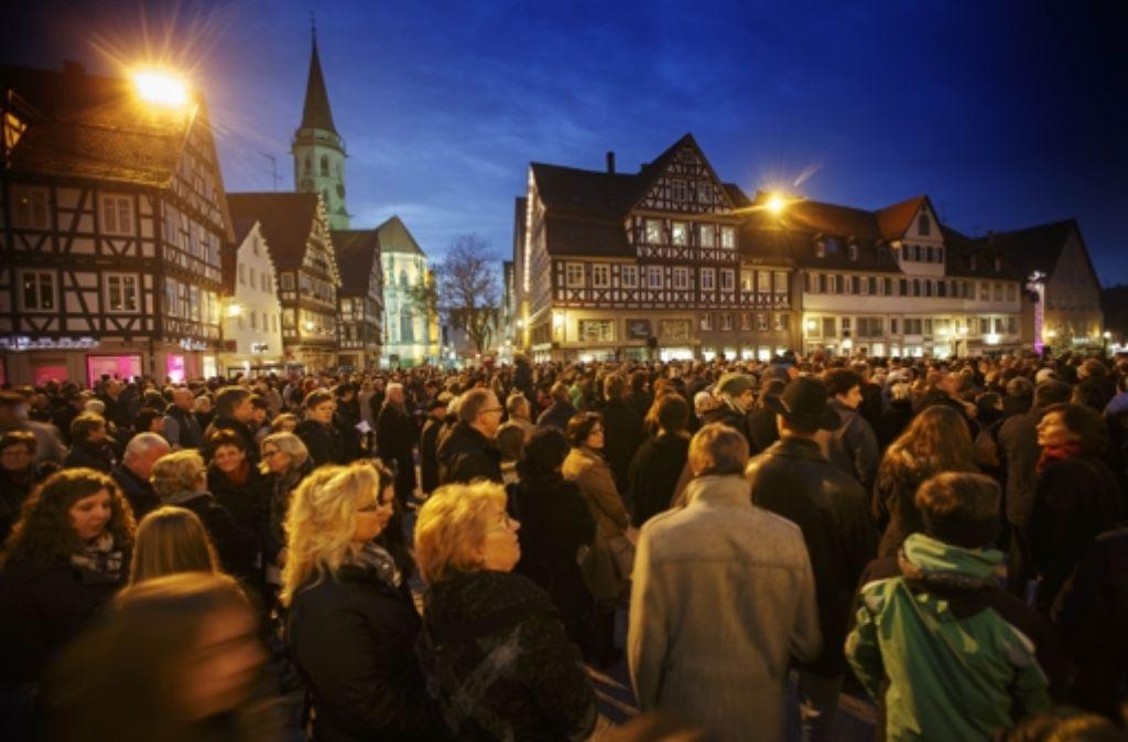 Gemeinsamer Gottesdienst: Menschenmassen Foto: Gottfried Stoppel