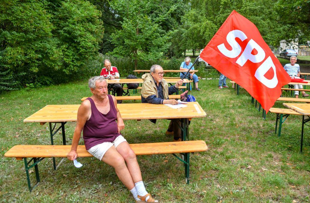 In den letzten Zügen: Wahlkampf in Brandenburg Foto: dpa/Patrick Pleul