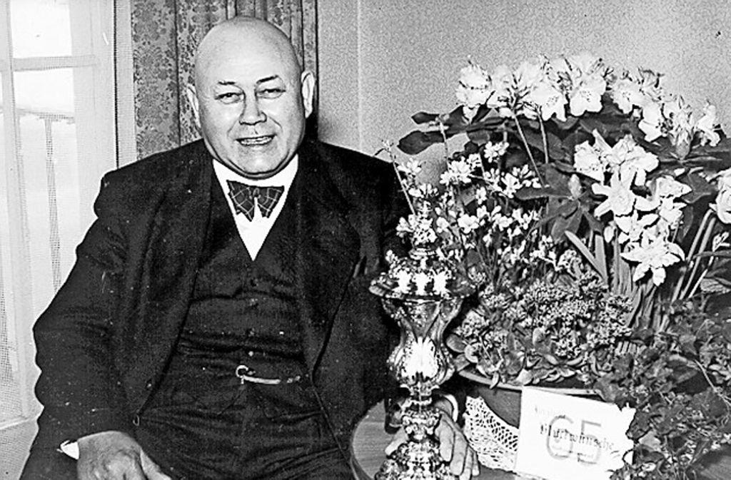 Emil Schuler an seinem 65. Geburtstag. Foto: Sammlung Winfried Schweikart