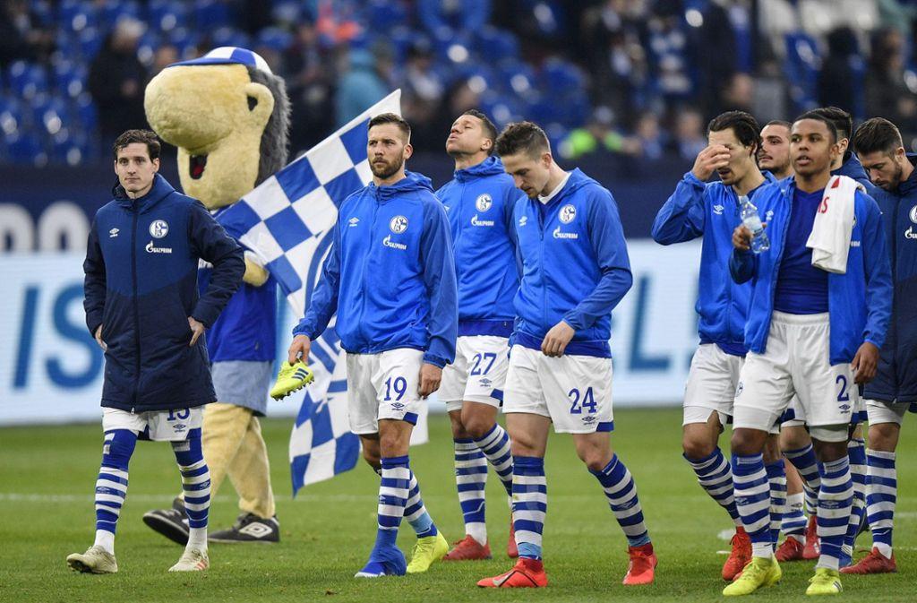 Schalke nähert sich dem Relegationsplatz. Foto: AP