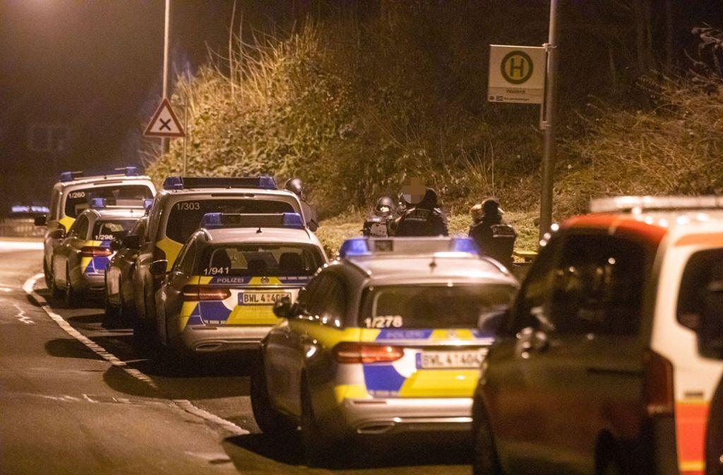 Die Polizei rückte am Montagabend zu einem Großeinsatz nach Kaltental aus. Foto: 7aktuell.de/Simon Adomat