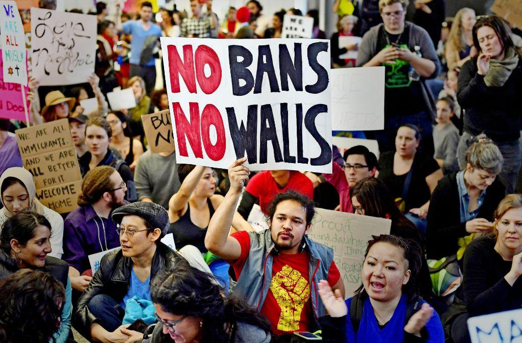 Die Proteste in den USA – wie hier in San Francisco – werden nicht weniger. Foto: AFP