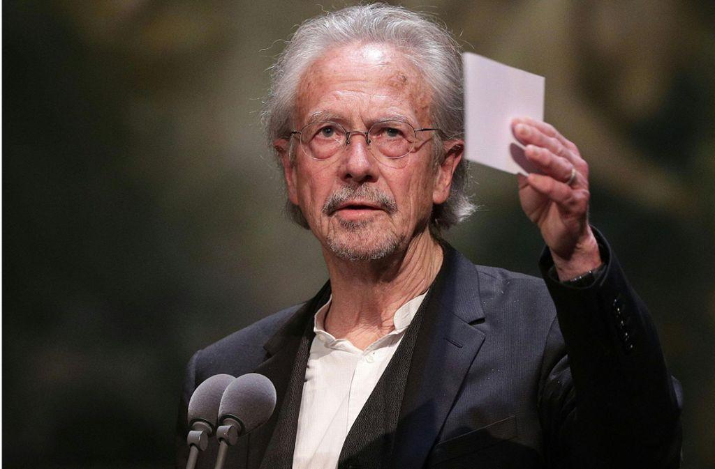 Peter Handke wurde mit dem Literaturnobelpreis ausgezeichnet. Foto: AFP/GEORG HOCHMUTH