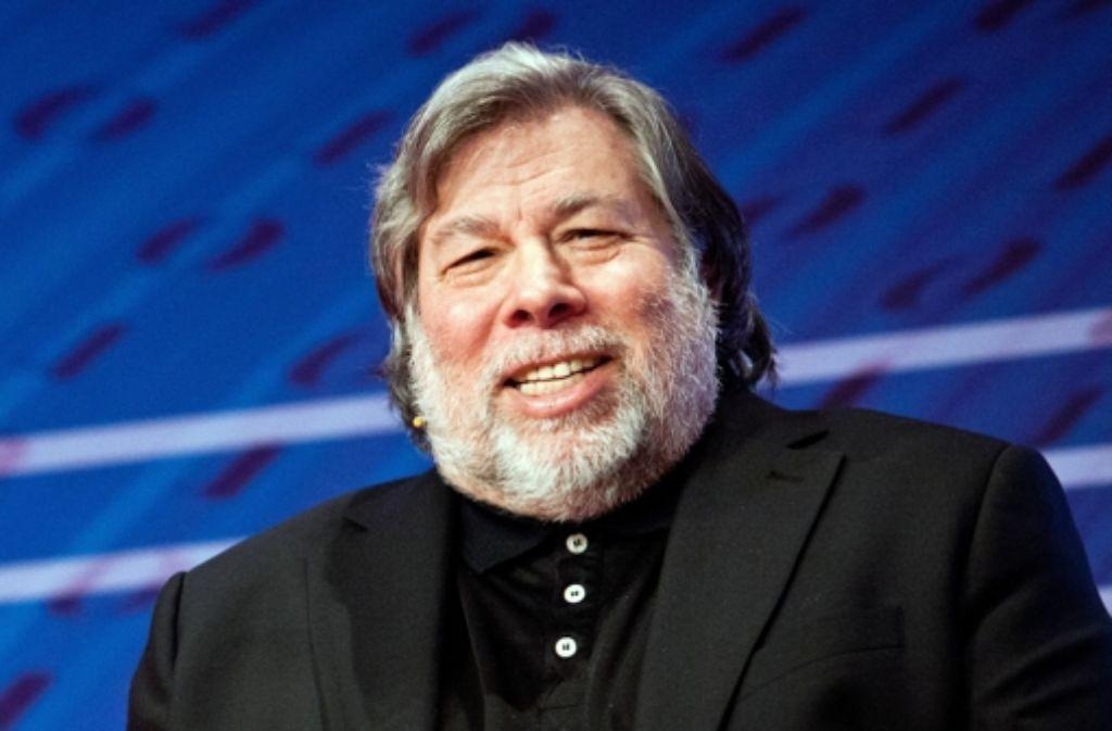 Gemeinsam mit Steve Jobs hat Wozniak den IT-Giganten Apple gegründet. In der Bildergalerie blicken wir auf die Geschichte des Milliardenkonzerns. Foto: dpa