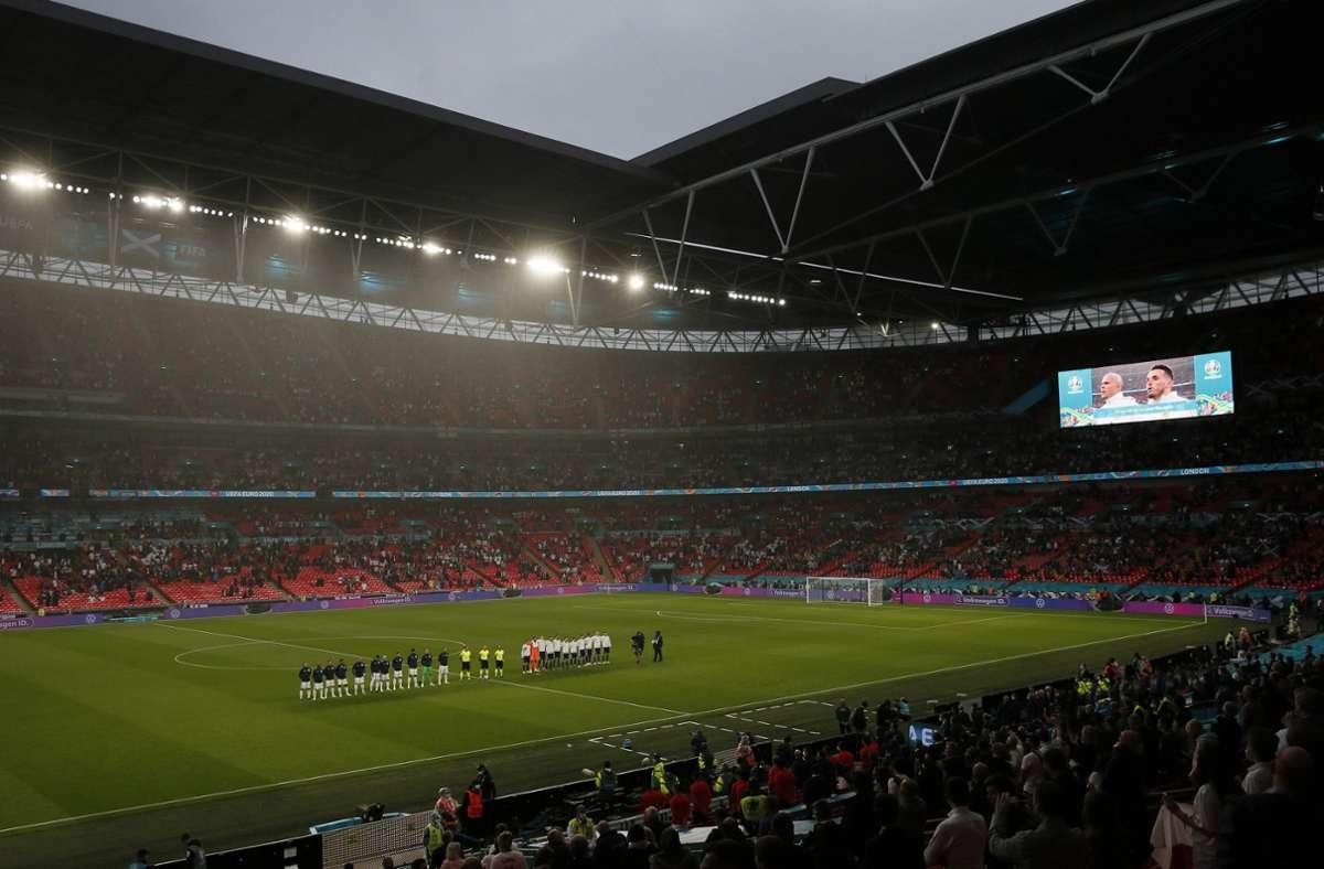 Schottland spielte in der Vorrunde gegen England in Wembley. Foto: imago images/Sportimage/David Klein