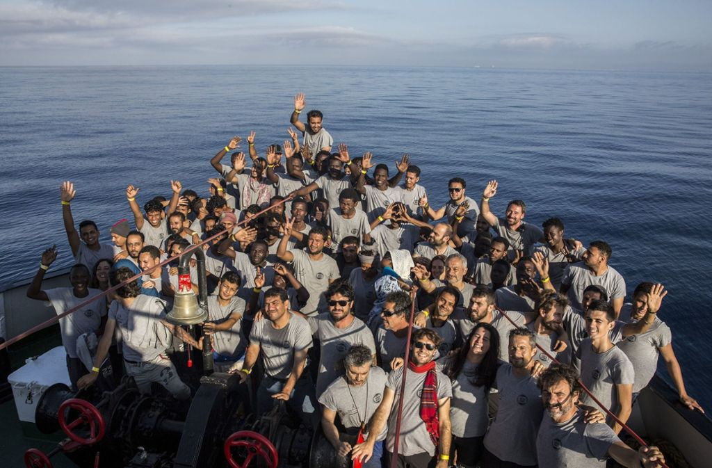 Flüchtlinge auf dem Mittelmeer: In Europa beginnt für viele eine Odyssee durch die komplizierten Regeln des Dublin-Systems. Foto: AP