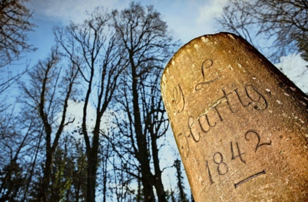 Schlichter geht es kaum: Der Gedenkstein für Georg Ludwig Hartig auf dem Schurwald über Winterbach.     Foto:Frank Eppler Foto: