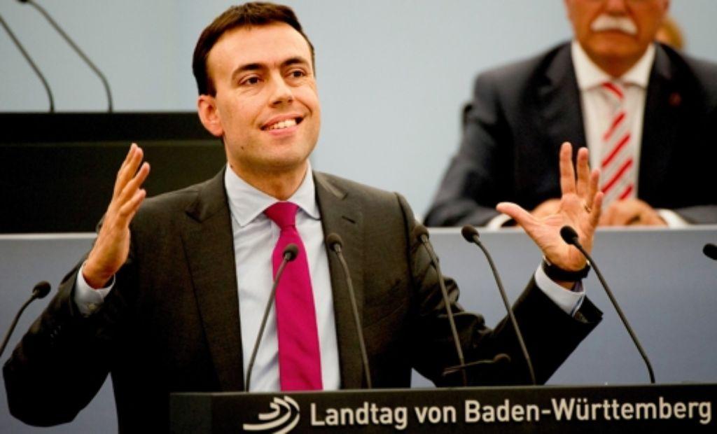 Unterstützung von der Basis für die Schulpläne: SPD-Landeschef Nils Schmid. Foto: dpa