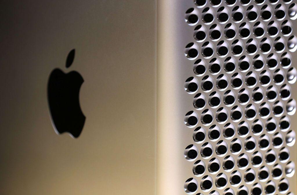 Macs sollen künftig von hauseigenen Apple-Chips angetrieben werden. (Symbolbild) Foto: AFP/JUSTIN SULLIVAN