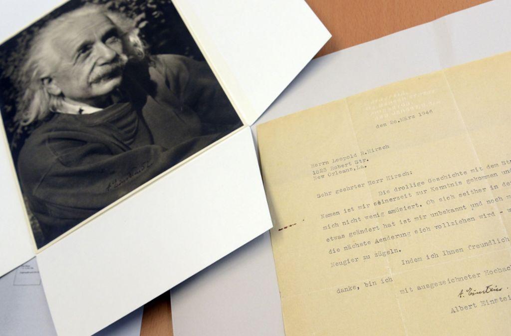 Vor wenigen Jahren kaufte die Stadt Ulm bereits einen Brief von Albert Einstein. Foto: dpa/Stefan Puchner