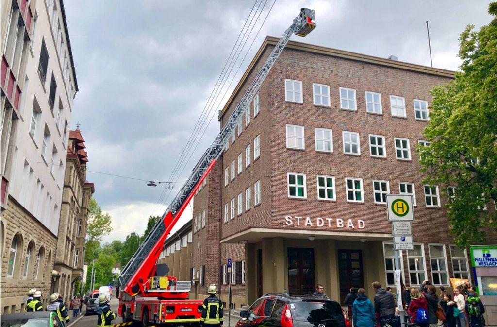Die Feuerwehr sucht nach der Ursache – doch es gibt keinen Brand. Foto: 7aktuell.de/Sven Adomat