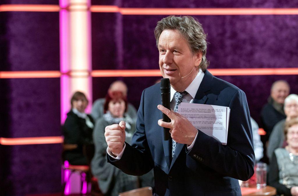 Jörg Kachelmann ist zurück im Fernsehen – und dabei spürbar aufgeregt. Foto: MDR
