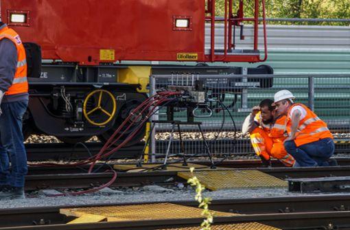 S-Bahn-Störung durch entgleisten Bauzug