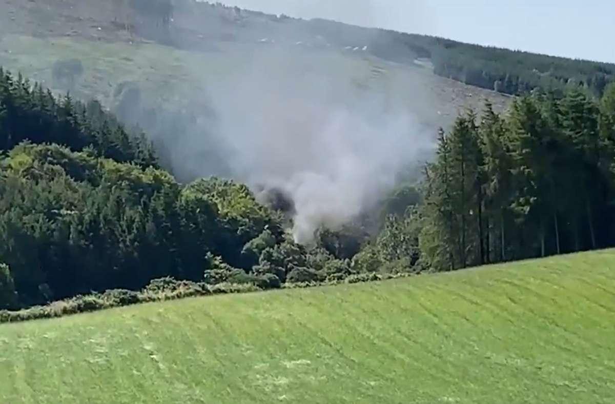 Bei dem Zugunglück sind drei Menschen ums Leben gekommen. Foto: dpa/BBC Scotland