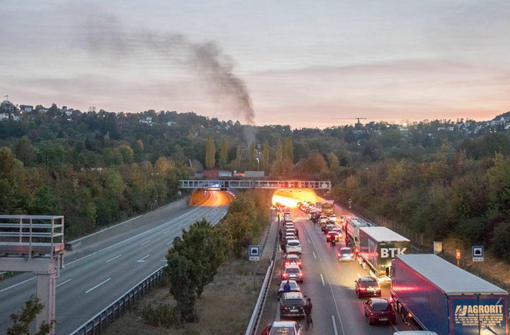 Der Engelbergtunnel bei Stuttgart war stundenlang gesperrt. Foto: 7aktuell.de/Nils Reeh