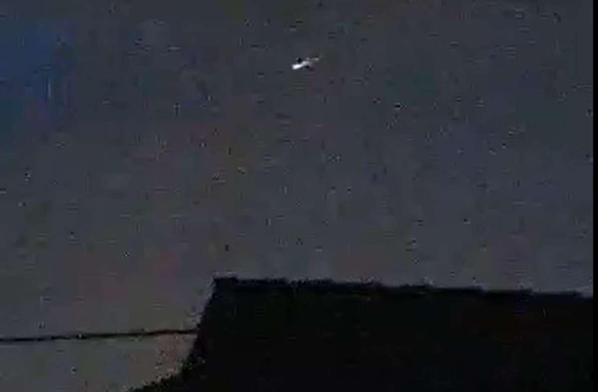 Verschwommene Aufnahmen im Netz zeigen das vermeintliche Ufo über Waiblingen. Foto: privat
